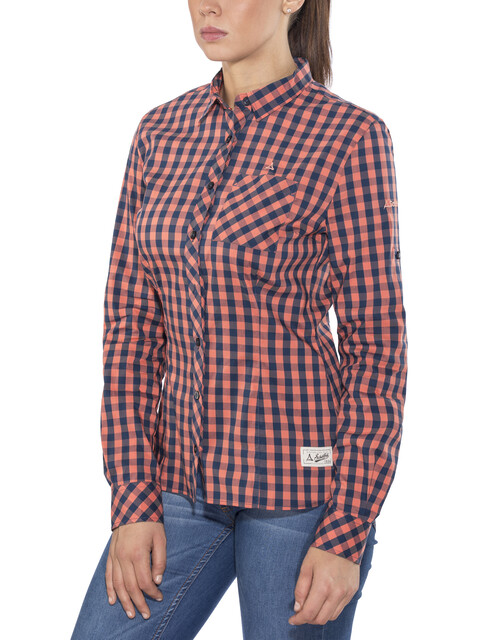 Schöffel Riga2 - T-shirt manches longues Femme - rose/bleu